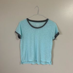 Light Blue and Grey SO Ringer Tee